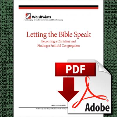 Letting the Bible Speak